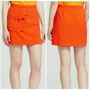 Victoria Beckham Orange Mini Skirt Medium